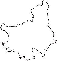 埼玉県春日部市(かすかべし)の白地図無料ダウンロード