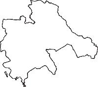 埼玉県上尾市(あげおし)の白地図無料ダウンロード