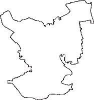 埼玉県草加市(そうかし)の白地図無料ダウンロード
