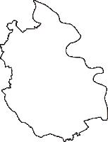 埼玉県越谷市(こしがやし)の白地図無料ダウンロード