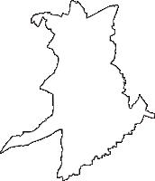 埼玉県新座市(にいざし)の白地図無料ダウンロード
