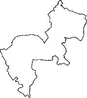 埼玉県桶川市(おけがわし)の白地図無料ダウンロード