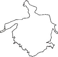 埼玉県富士見市(ふじみし)の白地図無料ダウンロード