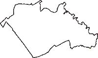 埼玉県入間郡三芳町(みよしまち)の白地図無料ダウンロード