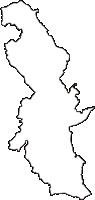 埼玉県比企郡嵐山町(らんざんまち)の白地図無料ダウンロード