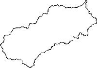 埼玉県比企郡ときがわ町(ときがわまち)の白地図無料ダウンロード