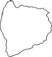 埼玉県秩父郡横瀬町(よこぜまち)の白地図無料ダウンロード