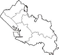 千葉県千葉市千葉市(ちばし)の白地図無料ダウンロード