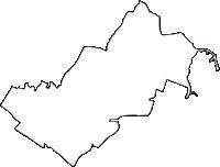 千葉県千葉市花見川区(はなみがわく)の白地図無料ダウンロード