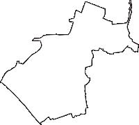 千葉県千葉市稲毛区(いなげく)の白地図無料ダウンロード