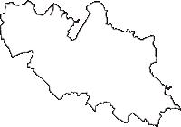 千葉県千葉市若葉区(わかばく)の白地図無料ダウンロード