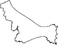 千葉県銚子市(ちょうしし)の白地図無料ダウンロード