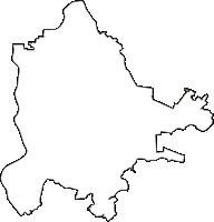 千葉県松戸市(まつどし)の白地図無料ダウンロード