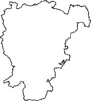 千葉県茂原市(もばらし)の白地図無料ダウンロード