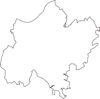 千葉県成田市(なりたし)の白地図無料ダウンロード