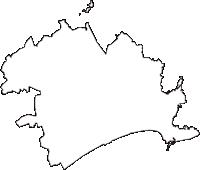 千葉県旭市(あさひし)の白地図無料ダウンロード