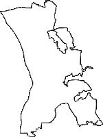 千葉県流山市(ながれやまし)の白地図無料ダウンロード