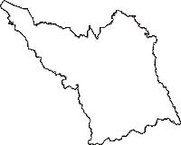 千葉県君津市(きみつし)の白地図無料ダウンロード