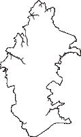 千葉県八街市(やちまたし)の白地図無料ダウンロード