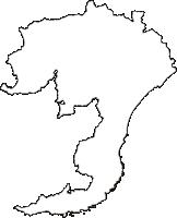 千葉県南房総市(みなみぼうそうし)の白地図無料ダウンロード