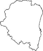 千葉県いすみ市(いすみし)の白地図無料ダウンロード