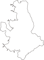 千葉県山武郡芝山町(しばやままち)の白地図無料ダウンロード