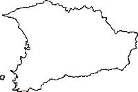 千葉県安房郡鋸南町(きょなんまち)の白地図無料ダウンロード