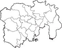 東京都特別区部(とくべつくぶ)の白地図無料ダウンロード