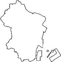 東京都港区(みなとく)の白地図無料ダウンロード