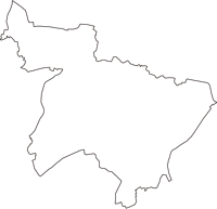 東京都新宿区(しんじゅくく)の白地図無料ダウンロード