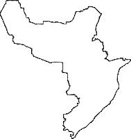 東京都中野区(なかのく)の白地図無料ダウンロード