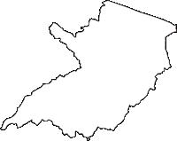 東京都八王子市(はちおうじし)の白地図無料ダウンロード