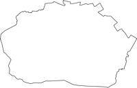 東京都昭島市(あきしまし)の白地図無料ダウンロード