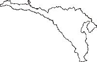 東京都町田市(まちだし)の白地図無料ダウンロード