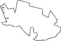 東京都国分寺市(こくぶんじし)の白地図無料ダウンロード
