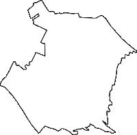 東京都国立市(くにたちし)の白地図無料ダウンロード