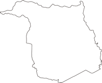 東京都東大和市(ひがしやまとし)の白地図無料ダウンロード
