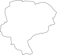 東京都稲城市(いなぎし)の白地図無料ダウンロード