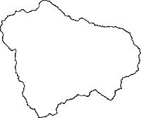 東京都西多摩郡奥多摩町(おくたままち)の白地図無料ダウンロード