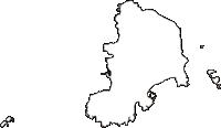 東京都大島支庁神津島村(こうづしまむら)の白地図無料ダウンロード