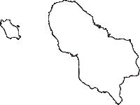 東京都八丈支庁八丈町(はちじょうまち)の白地図無料ダウンロード