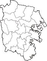 神奈川県横浜市横浜市(よこはまし)の白地図無料ダウンロード