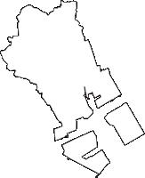神奈川県横浜市鶴見区(つるみく)の白地図無料ダウンロード