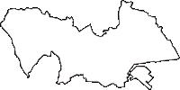 神奈川県横浜市神奈川区(かながわく)の白地図無料ダウンロード