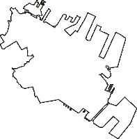 神奈川県横浜市中区(なかく)の白地図無料ダウンロード