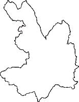 神奈川県横浜市保土ケ谷区(ほどがやく)の白地図無料ダウンロード