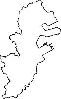 神奈川県横浜市磯子区(いそごく)の白地図無料ダウンロード