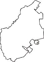 神奈川県横浜市金沢区(かなざわく)の白地図無料ダウンロード