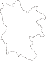 神奈川県横浜市港南区(こうなんく)の白地図無料ダウンロード