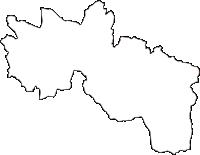 神奈川県横浜市栄区(さかえく)の白地図無料ダウンロード